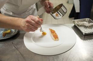 Dresser la purée de carotte