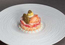 Recette de homard bleu breton en salade, rémoulade façon Waldorf