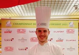 Pierre-Jean Quinonero, finaliste professionnel du Championnat de France du Dessert 2021