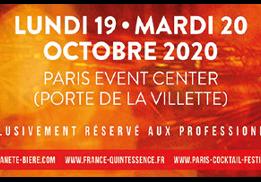 PLANÈTE BIÈRE, FRANCE QUINTESSENCE ET PARIS COCKTAIL FESTIVAL 19 ET 20 OCTOBRE 2020