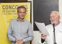 """Jean-Philippe Zabka, vainqueur de la première édition du """"Goût prend forme""""."""