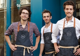 Dimitri Aboulker, Thibault Eurin et Arthur Lecomte.