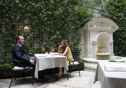 Le Jardin, table du Clarence