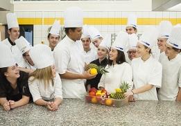 Les élèves en première année de BTS Hôtellerie du Lycée Valéry-Larbaud à Vichy