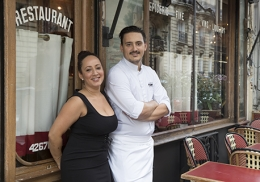 Laetitia Esteban, la directrice de salle et Romain Bréchignac, le chef des cuisines