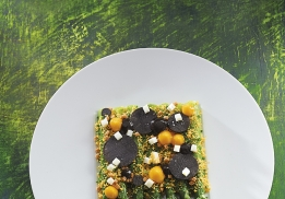 Asperges mimosa par Laurent Delarbre