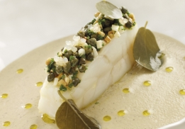 Turbot caviar d'aubergine par Yannick Franques