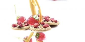 Cookies fraise pistache