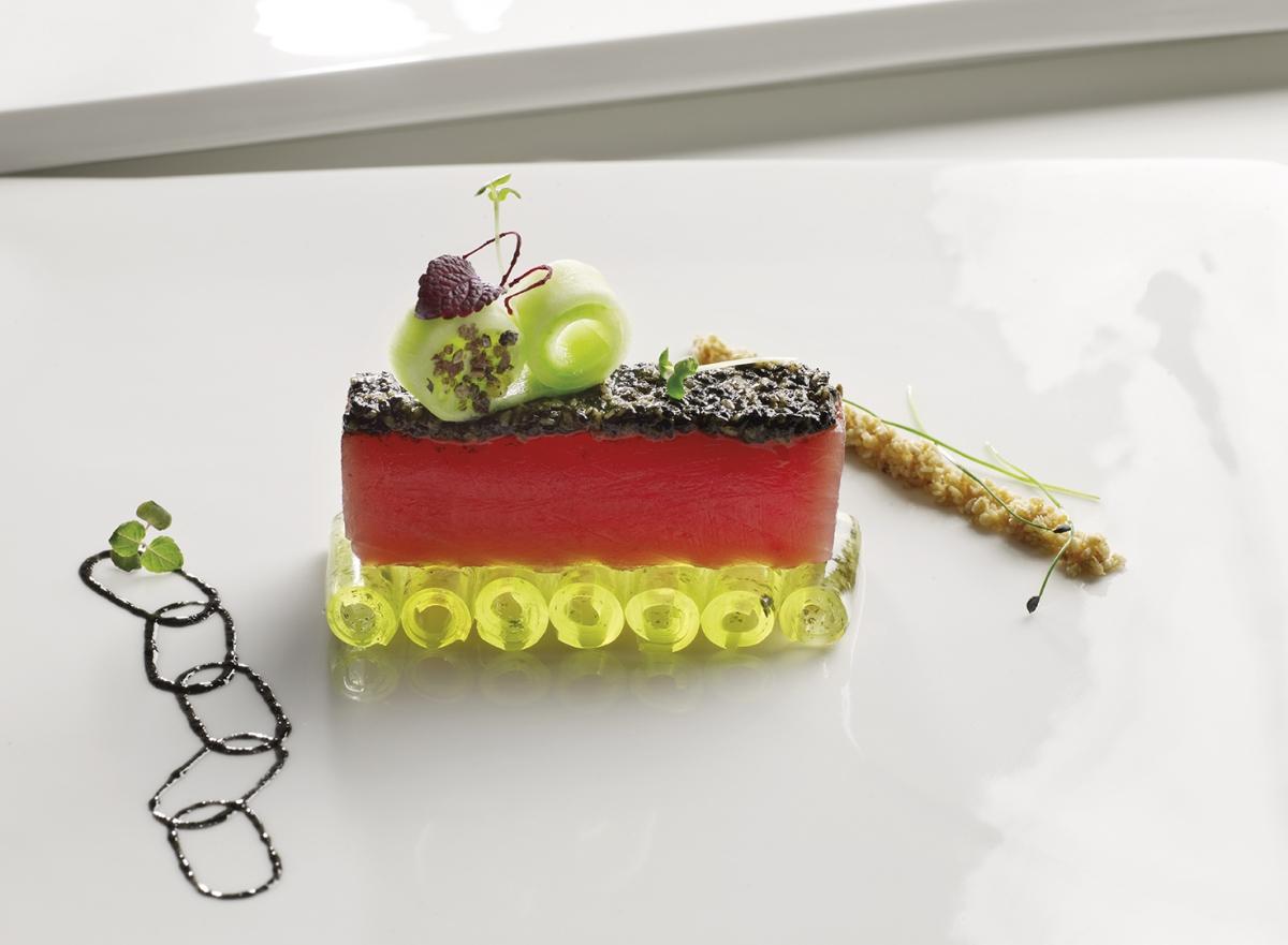 Thon en grawlax aux condiments asiatiques gel e de - Recette cuisine italienne gastronomique ...